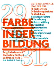 Plakat zur Konferenz Farbe in der Bildung
